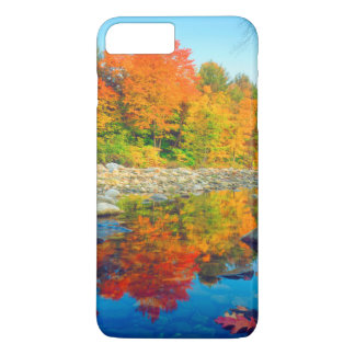 Autumn Colors reflecting in a stream in Vermont iPhone 8 Plus/7 Plus Case