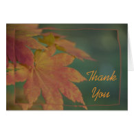 Autumn Colors Thank You Note Card