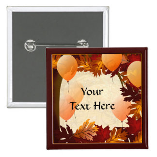 Autumn Colors Tree Leaves Custom Party Button