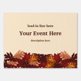 Autumn Colors Tree Leaves Event Custom Yard Sign