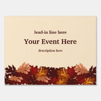 Autumn Colors Tree Leaves Event Custom Yard Sign