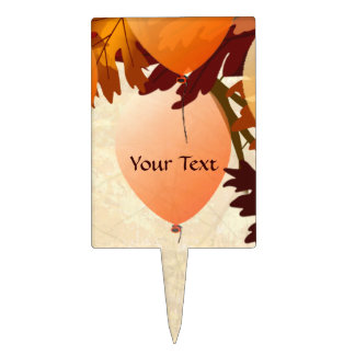 Autumn Colors Tree Leaves  Party Name Cake Pic Cake Topper