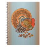Autumn Colors Turkey Leaves Notebook