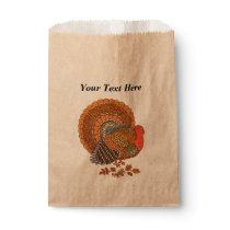 Autumn Colors Turkey Leaves Thanksgiving Favor Bag