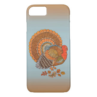 Autumn Colors Turkey Leaves Thanksgiving iPhone 8/7 Case