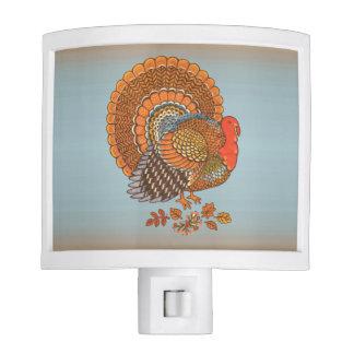 Autumn Colors Turkey Leaves Thanksgiving Night Light