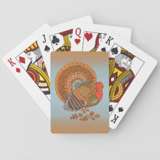 Autumn Colors Turkey Leaves Thanksgiving Playing Cards