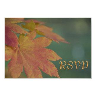 Autumn Colors Wedding RSVP Response Card