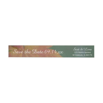Autumn Colors Wedding Save the Date Wraparound Return Address Label