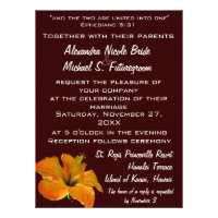 Autumn Colors Wedding:Two Become One Announcements