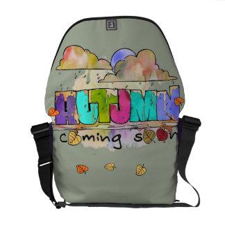 Autumn coming soon messenger bag