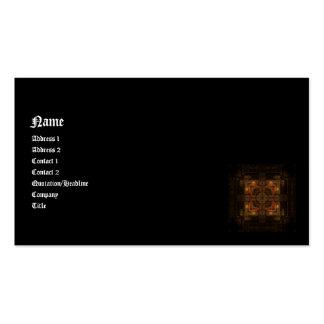 Autumn Complex Kaleidoscope Goth Business Card