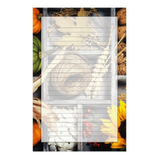 Autumn Composition In Wooden Box Stationery