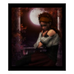 Autumn Contemplations by Moonlight - Poster