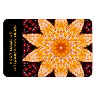 Autumn Corn Flower 4x6 Flexi Magnet with Text