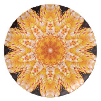 Autumn Corn Flower Plates