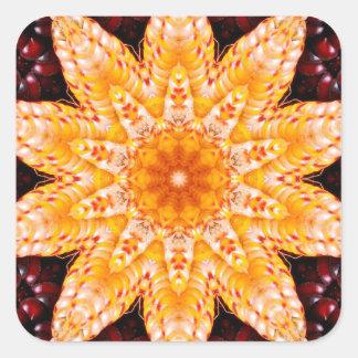 Autumn Corn Flower Sticker