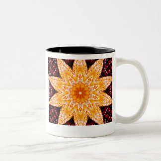 Autumn Corn Flower Text Mug