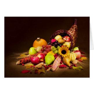 Autumn Cornucopia Greeting Card