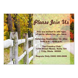 """Autumn Country Invitations 4.5"""" X 6.25"""" Invitation Card"""