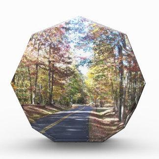 Autumn Country Road Acrylic Award