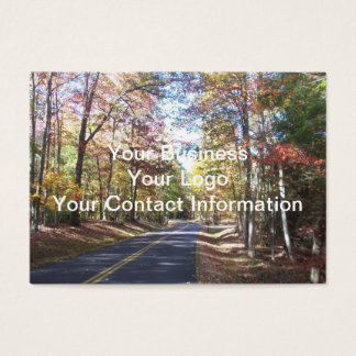 Autumn Country Road Business Card