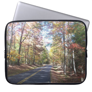 Autumn Country Road Laptop Computer Sleeves