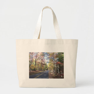 Autumn Country Road Large Tote Bag