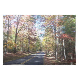 Autumn Country Road Place Mat