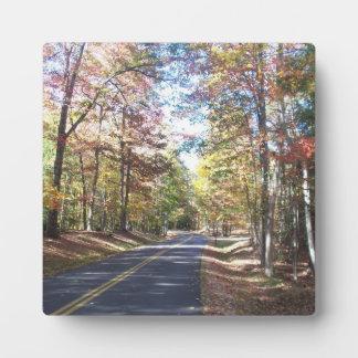 Autumn Country Road Plaque