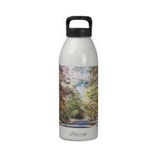 Autumn Country Road Reusable Water Bottles