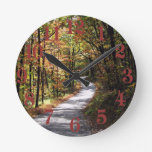 Autumn Country Road Round Clocks