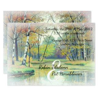 Autumn Country Stream Wedding Invite