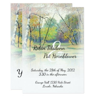 Autumn Country Stream Wedding Invite #2B