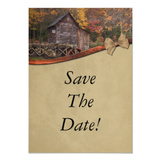 Autumn Country Theme Save The Date Wedding Invites