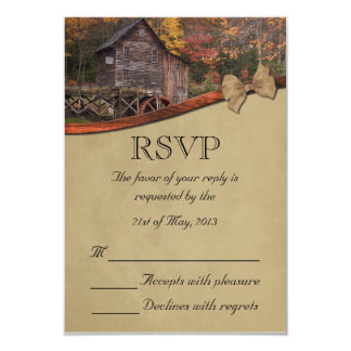 Autumn Country Theme Wedding Personalized Invite