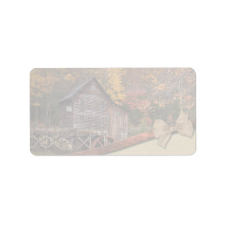 Autumn Country Theme Wedding Label