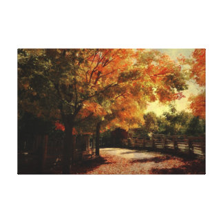 Autumn Country Walk Gallery Wrapped Canvas