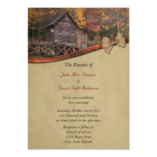 Autumn Country Wedding Invitation