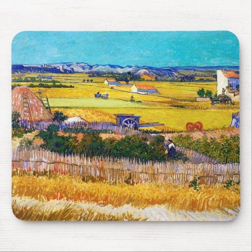 Autumn Countryside, Van Gogh Mouse Pad
