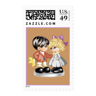 Autumn Couple Stamp
