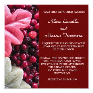 Autumn Cranberry Elegance Wedding Invitation