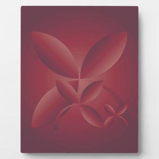 autumn crimson plaque