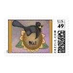 Autumn Crow by Trina Clark Postage Stamp