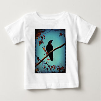 Autumn Crow Sitting on a Branch Original Photo Baby T-Shirt