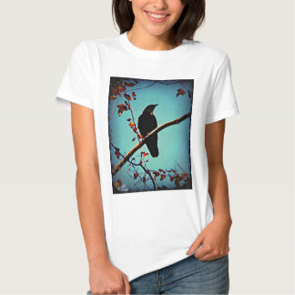Autumn Crow Sitting on a Branch Original Photo T-Shirt