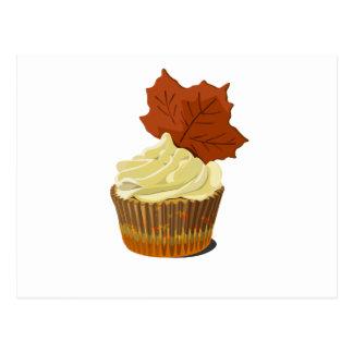 Autumn cupcake postcard