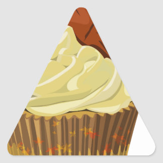 Autumn cupcake triangle sticker