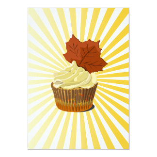 Autumn cupcake with blast line pattern card