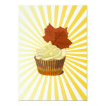 "Autumn cupcake with blast line pattern 5"" x 7"" invitation card"